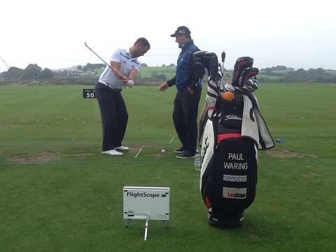 Graham Walker coaching Paul Waring, European Tour